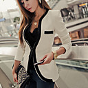 Dame Slim Blazer med Piping Detail