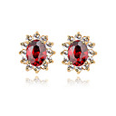 Charming 18K Gold Plated CZ Cubic Zirconia Earring(More Colors)