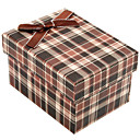 Classic Plaid Gift Box With Ribbon Bow