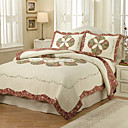 3PCS Geometrische Muster Cotton Königin Quilt Set