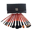15Pcs Beautiful Cosmetic Fox Hair Makeup Brush Set with Free Pouch