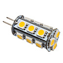 g4 2.5W 18x5050 SMD 180-200lm 2800-3200K warm wit licht geleid mas gloeilamp (12v)