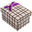 Simple Design Classic Plaid Gift Box With Ribbon Bow
