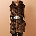 Hooded Faux Fur Party/Office Vest