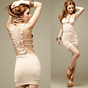 Women's Strap Dress with Crochet Back