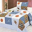 3PCS Sport Theme Cotton Queen Size Quilt Set