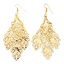 Traditional Patten Hollow Out Gold Plated Earrings