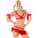Women's Red Fashion Stripes Lingerie Set without Hosiery(Bust:86-102cm Waist:58-79cm Hip:90-104cm)