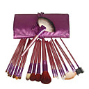 22Pcs Professional Goat Hair Makeup Brushes Set with Purple Soft Brush Bag
