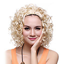 Capless Bestnote Synthetic Short Curly Golden Hair Perücken