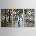 Hand Painted Oil Painting Landscape With Stretched Frame Set of 3 1303-LS239