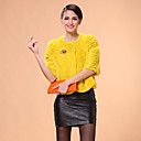 Half Sleeve Collarless Rex Rabbit Fur Casual/Office Jacket (More Colors)