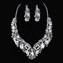 Fashion Alloy With Rhinestone Women's Jewelry Set Including Necklace,Earrings