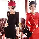 Women's Puff Sleeve Knitted Dress