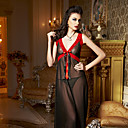Women's Black-red Long Lingerie Dress(Bust:84-120cm)