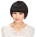 100% Human Hair Capless Black Wavy Short Hair Wig