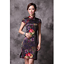 High End Vintage Heavy Silk Chinese Dress