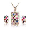 Aleacin nica con joyas de cristal / Rhinestone Mujeres Establecer como collares, aretes