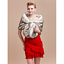 Elegant Faux Fox Fur Party/Evening/Wedding Shawl/Wrap