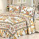 3 PCS Traditional Floral Washed Cotton Quilt Set