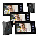 "7""Touch Key wired Color Video Door Phone,with SD Card Picture Record,Taking Photo(2 Camera To 3 Monitor)"