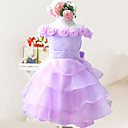 Lovely Off-the-shoulder Taffeta/Tulle Wedding/Evening Flower Girl Dress