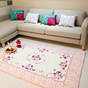 6' Country Floral Acrylic Area Rug