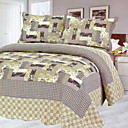 3PCS Novelty Cotton Queen Size Quilt Set