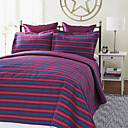 3PCS Zarate Stripe Mattelasse Woven Twin/Queen/King Duvet Cover Set