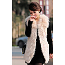 Fox Fur Collar Rex Rabbit Fur &amp; Lamb Fur Casual/Party Vest (More Colors)