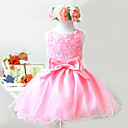 Lovely Sleeveless Satin/Tulle Wedding/Evening Flower Girl Dress