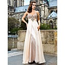Unique A-line Sweetheart Spaghetti Straps Floor-length Chiffon Evening Dresses
