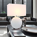 40W Modern Ceramic Table Light with Fabric Shade