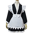 Long Sleeve Short Black Cotton Cosplay Lolita Kimono Outfit