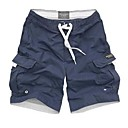 Mens Beach Casual Solid Color Simple Trunks