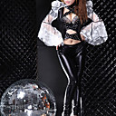 Super Star Lace Sleeves Black Spandex Punk Princess Uniform (2 Pieces)