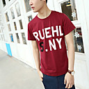 Men's Cotton Print Casual Korte T-shirt