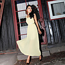 Women's Chiffon Backless Maxi Dress