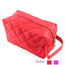 Diamond Shape Pattern Make up/Cosmetics Bag Red&amp;Purple(Assorted Colors)
