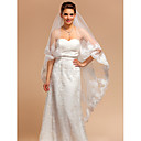 Elegant One-tier Chapel Wedding Veils With Lace Applique/Finished Edge