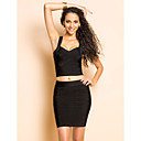 TS Two Pieces Slim Bodycon Bandage Dress