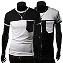 Mannen contrast kleur korte mouw T-shirt