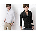 Men 's White Mature Shirt Collar Mature Men Work Long Shirts