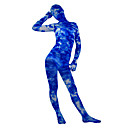 Light Through the Clouds Velvet Full Body Patterned Zentai