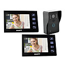 "7""Wired Video Door Phone  with SD card Picture Record (1 Camera To 2 Monitor)"