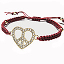 Women's Diamond Heart Rope Alloy Bracelet