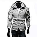 Men's Solid Color Scrub Thin Hoodie Coat