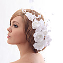 Beautiful Silk Screen With Imitation Pearls Wedding Bride Hat