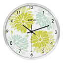 Flower in Bloom Stainless Steel Wall Clock