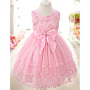 Nice Sleeveless Cotton/Tulle Wedding/Evening Flower Girl Dress